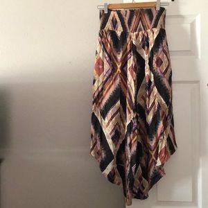 Asymmetrical flowy pants